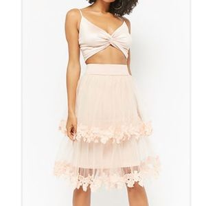 Pink tulle skirt L